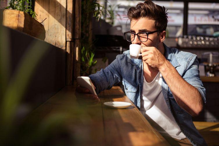 Male-having-coffee